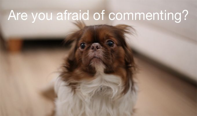 afraid of commenting