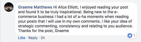 FB comment online visibility