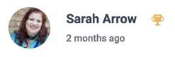 Sarah's badge