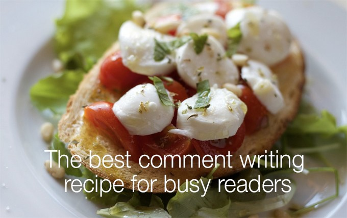 comment writing recipe