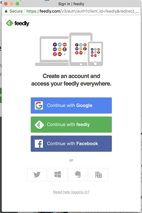 Feedly logins