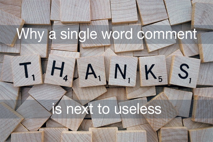 single word comment