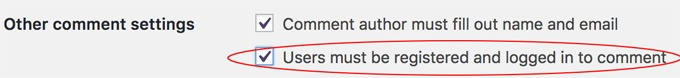 Commenters must be registered first