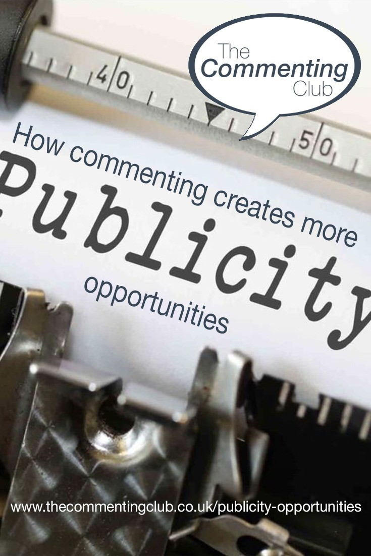 Commenting isn't just confined to blogs and social media conversations, there is a lot more you can do to get publicity opportunities to help your business.