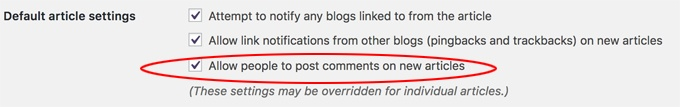 allow commenting on new articles