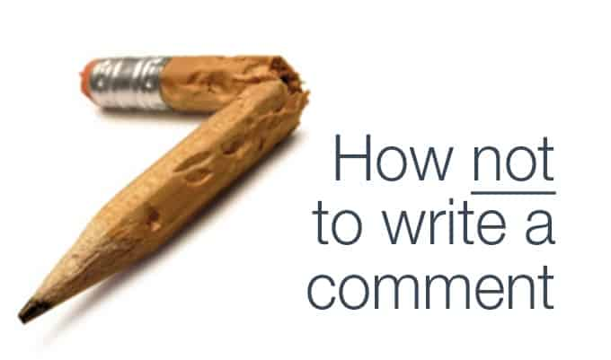 how not to write a comment