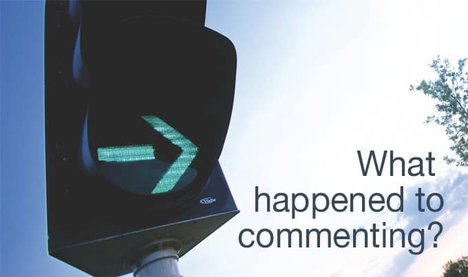 what happened to commenting?