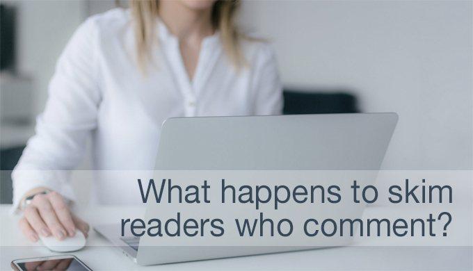skim readers