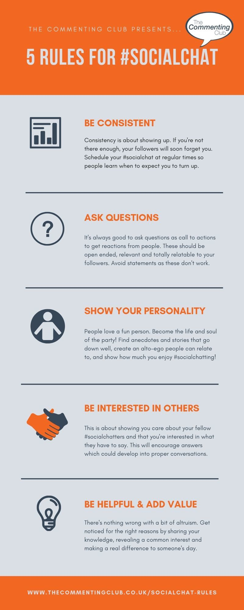 5 rules for socialchat