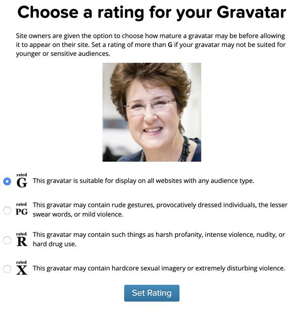 Rate your gravatar for commenting