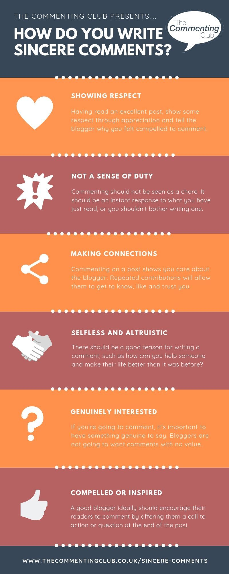Why it's important to write sincere comments