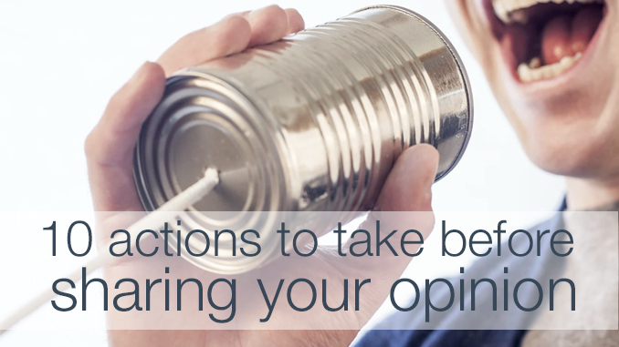 sharing your opinion