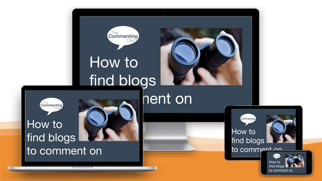 Devices screen for how to find a blog to comment on