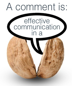 a comment is effective communication in a nutshell